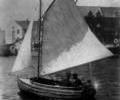 Unidentified sailing dinghy at Poole Quay