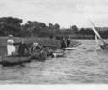 Boating in Poole Park, 1930