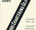 Advert for Fred Hobbs Chartering.