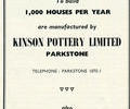 Advert for Kinson Pottery.