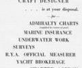 Advert for Philip Goode, Yacht & Commercial Craft Designer.