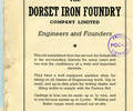 Advert for The Dorset Iron Foundry.