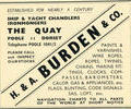 Advert for H. & A. Burden & co.