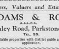 Advert for Adam & Rose.