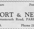 Advert for Wort & New.