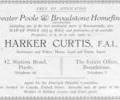 Advert for Harker Curtis, Estate Agent.
