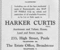 Advert for Harker Curtis.