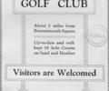 Advert For Parkstone Golf Club.
