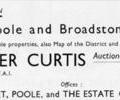 Advert for E.Harker Curtis.