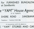 "Advert for "" Yam"" House Agency."