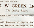 Advert for G.W Green, Ltd Bakers.