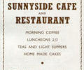 Advert for Sunnyside Cafe and Resturant.