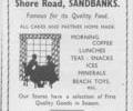 Advert for Beach Cafe.