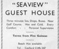"Advert for "" Seaview"" Guest House."