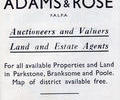 Advert  forAdams & Rose. Poole guide 1947