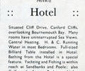 Advert for Canford Court Hotel.