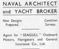 Adver for Eric H. French Boat Builder.