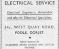 Advert for Auto Marine Electrical Service