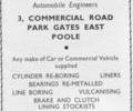 Advert for Central Garages.