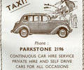 Advert For Gardeners Taxis.