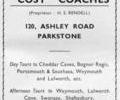 Advert for Cosy Coaches