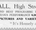Advert For Amity Hall.