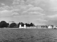 Brownsea Castle and Quay from the Sea.jpg